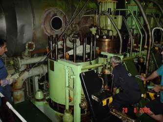 Repair engine, fire pump, ballast pump on vessel